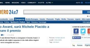 Libero: Cinecibo Award sara' Michele Placido a consegnare il premio
