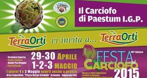 Riparte la festa del Carciofo di Capaccio-Paestum: dal 29 aprile la 7°edizione