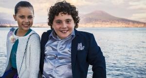 """I piccoli protagonisti del film 'Troppo napoletano"""" ospiti alla finale di  Cinefrutta del 5 maggio a Giffoni."""