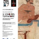 """Torna a Paestum """"il vino del tuffatore"""" archeologia e dieta mediterranea 11 e 12 novembre 2016"""