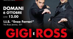 Domani 6 ottobre Gigi e Ross a Battipaglia per ritirare il premio Cinecibo